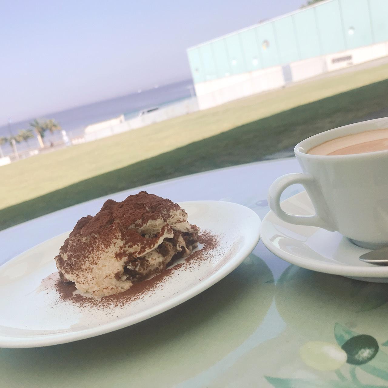 アクアマーレでお茶の時間