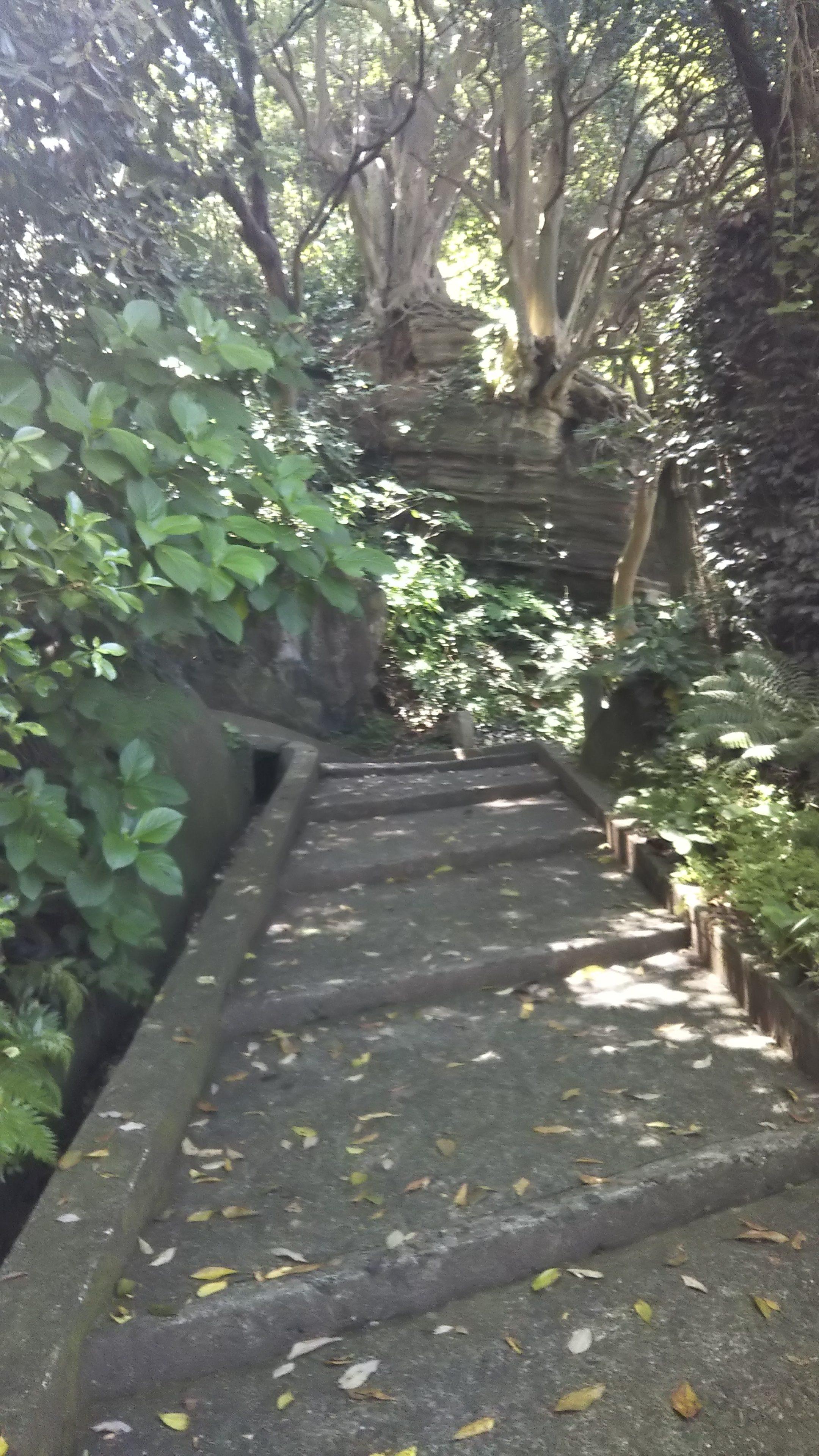 灯台へ続く石段