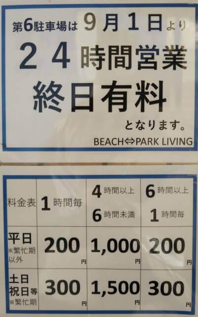 観音崎公園第6駐車場料金