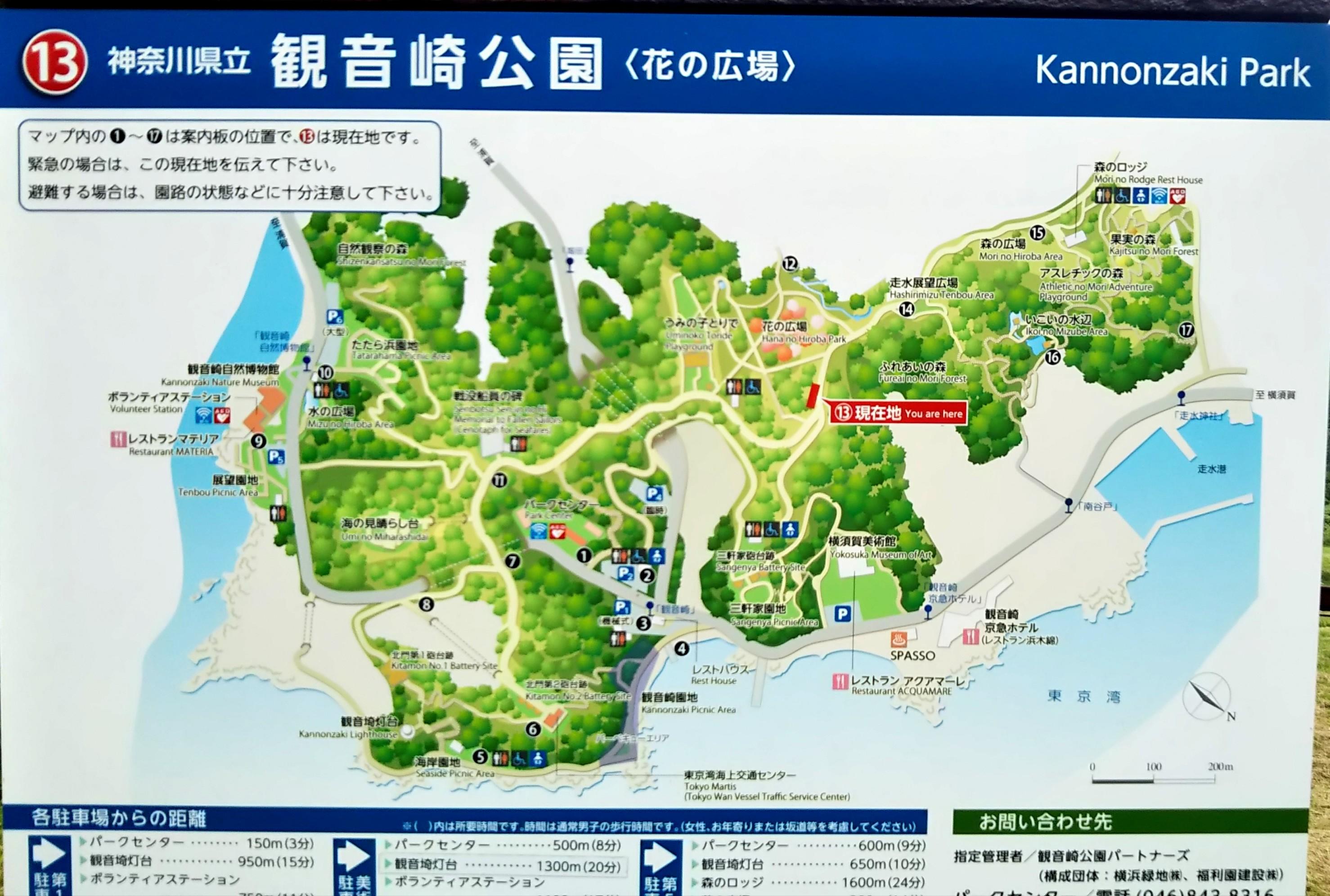 公園内には地図がたくさん