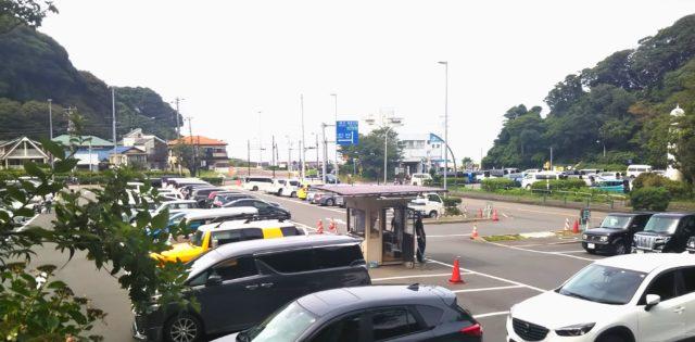 サービスエリア駐車場が満車