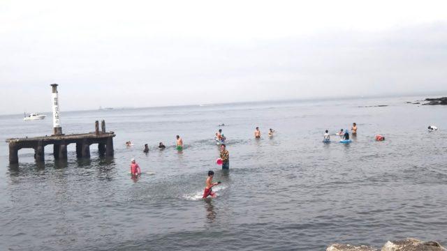 観音崎の海水浴場