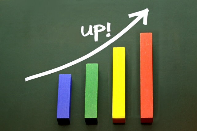 収益UPグラフ