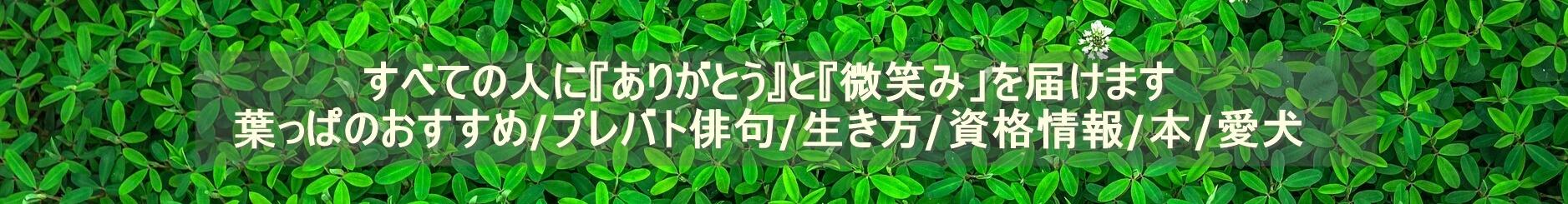 葉っぱのしおりのブログスマホ用ヘッダ画像