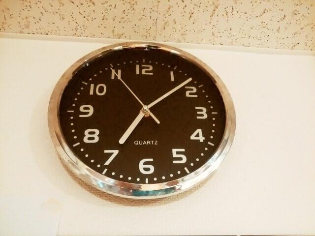 7時過ぎの時計