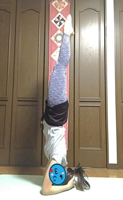 yoga頭立ちのポーズ