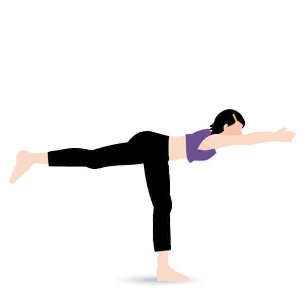 yoga戦士のポーズ3