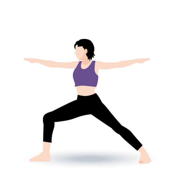yoga戦士のポーズ2
