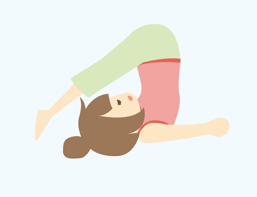 yoga鋤のポーズ