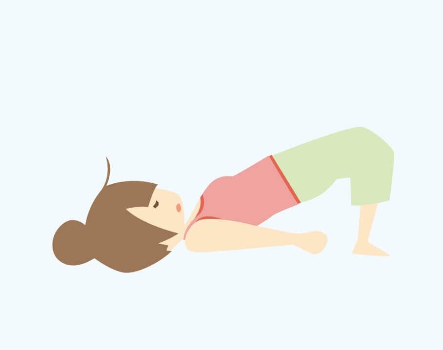 yoga橋のポーズ