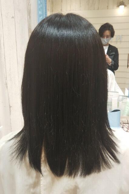 カット後のツヤツヤ髪