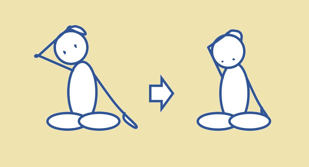 首筋をじんわり伸ばす運動