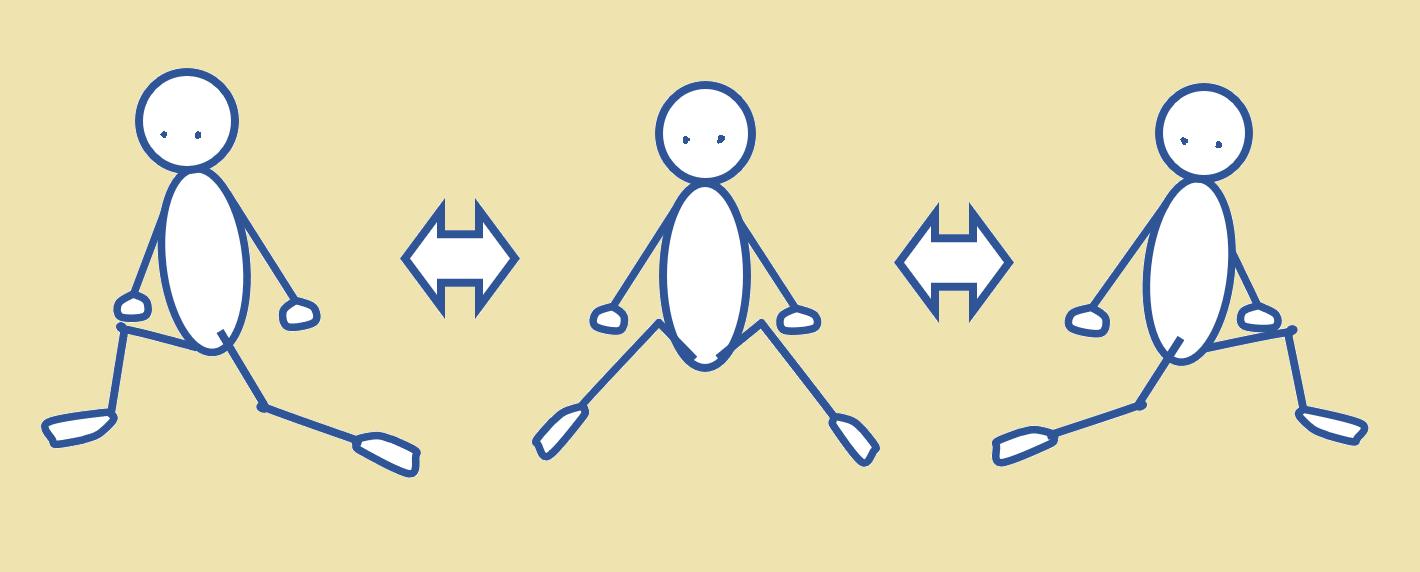 股関節をほぐし開脚しやすくする運動