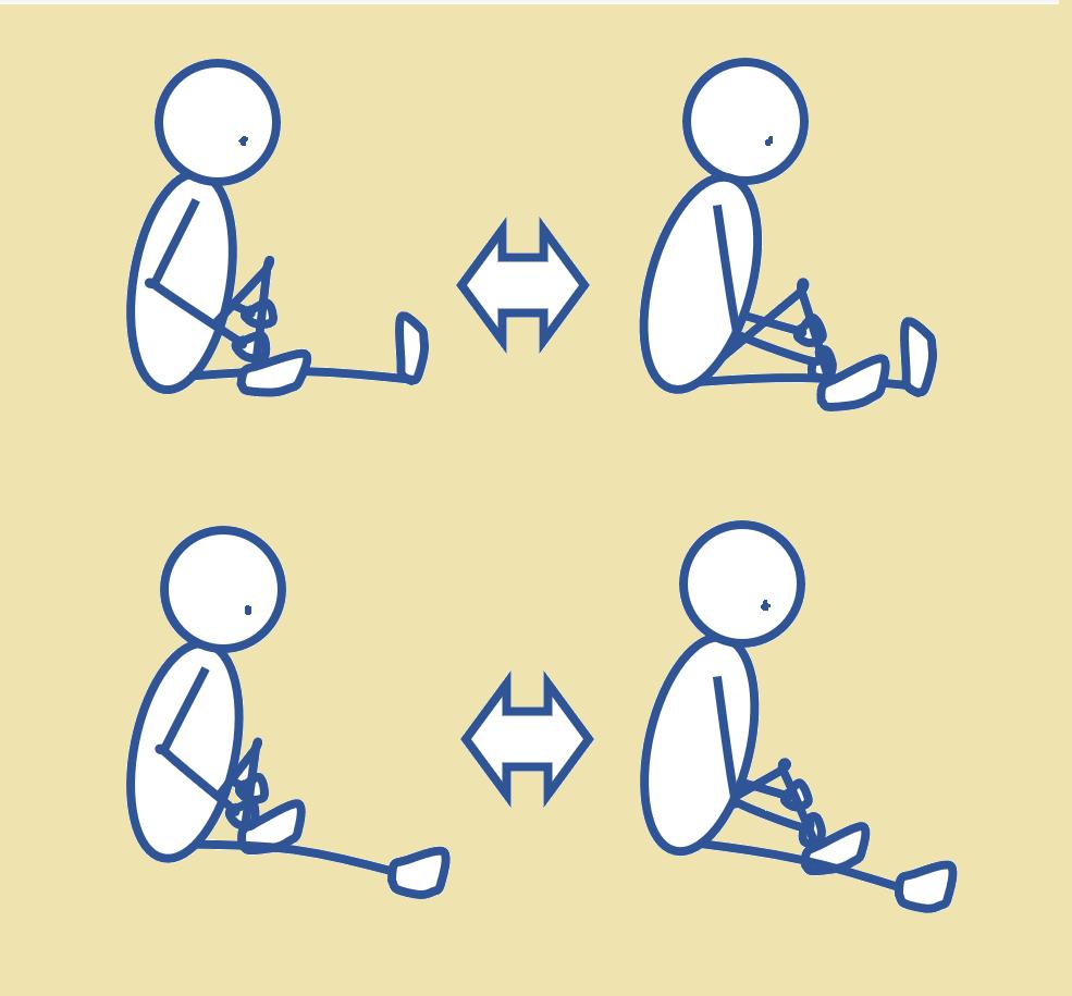 足で脚のマッサージ